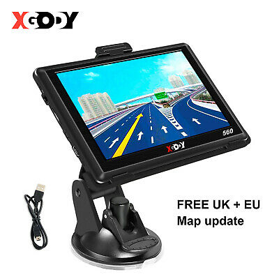 "5"" SAT NAV 8GB Car Truck HGV LGV GPS Navigation UK EU Lifetime Map POI XGODY 560"