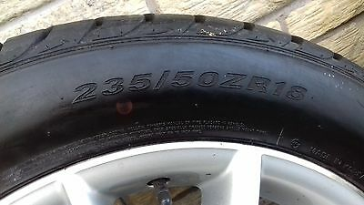 """vw tiguan 18"""" alloy wheels with nearly new tyres"""
