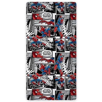 Marvel Ultimate Spiderman Superhero Single Fitted Sheet 100% Cotton 90Cm X 200Cm