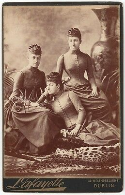 CC: the THREE DAUGHTERS of the PRINCE of WALES in 1887