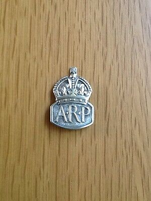 Vintage Sterling Silver ARP Cap Badge