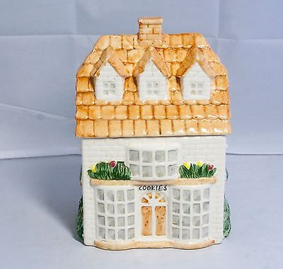 "Cottage House Ceramic County Baking Cookie Jar Collectible 9.5"" Tall"