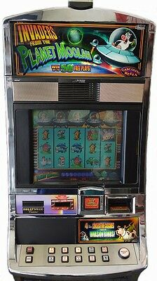 "Slot Machine Williams Bluebird 1 ""Invaders from the Planet Moolah"""