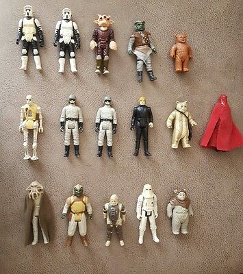 Star Wars Lote 16 figuras vintage 100% Originales AT-ST Drive, Luke, klaatu...