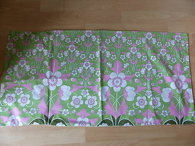 VINTAGE RETRO 1960s ?70S  FLOWER FABRIC UPCYCLED VW GOODWOOD
