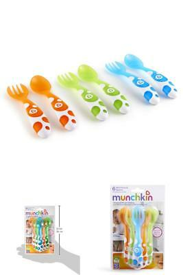 Soft Tip Infant Spoon 6 Count Set Baby Toddlers Feeding Eating Flatware Utensils