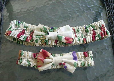 Two Longaberger Garters - Fruit???  One Med And One Small