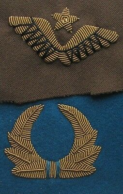 The sewn-on badge on his cap Aviation ,set to cap Aviation 1932-37 type, Replica