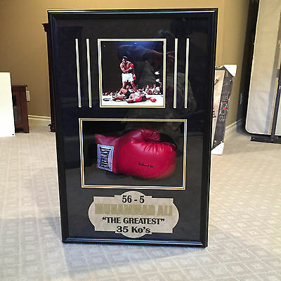 Muhammad Ali framed boxing glove