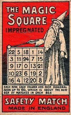 The Magic Square Matchbox Metal Tin Sign Poster Wall Plaque