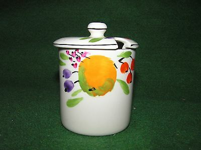 Hancocks Ivory Ware Small Pot Jar Fruit And Flowers