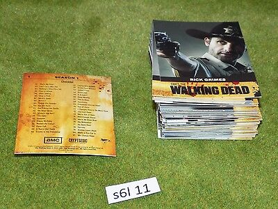 TWD The Walking Dead Trading Cards Series 1 complete set (S6L 11)