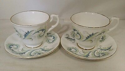 Pair of Royal Stafford Garland pattern cups and saucers