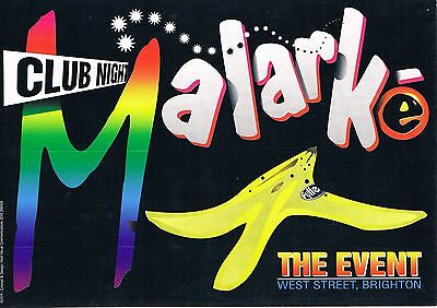 $ Club Night Malarke Rave Flyer Flyers A5 2/10/92 (Rare) The Event Brighton