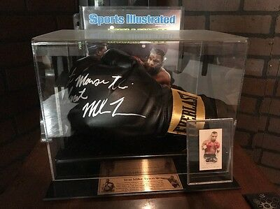 Mike Tyson SIGNED Black Leather Boxing Glove Baddest Man on the Planet Mancave