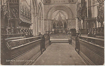 Llandaff Cathedral - East Nave -   Real Photo   Postcard #