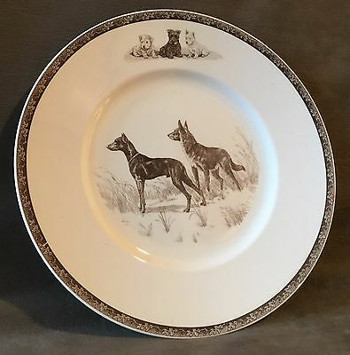 1944 War Dogs for Defense Wedgwood Plate Kirmse WWII Doberman German Shepherd