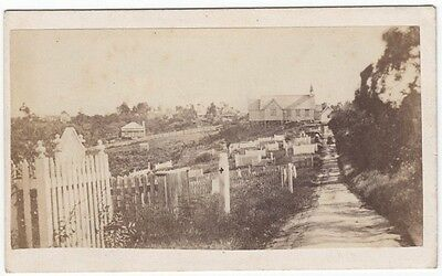 CDV: a CHURCH CEMETERY at AUCKLAND in NEW ZEALAND