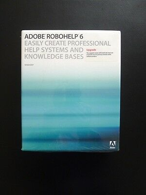 Adobe ROBOHELP 6 UPGRADE WINDOWS/PC 38038960 Genuine BRAND NEW / FACTORY SEALED