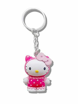 Genuine Sanrio Hello Kitty 'Strawberry' Scented 3D Keyring Fob Key Ring Gift