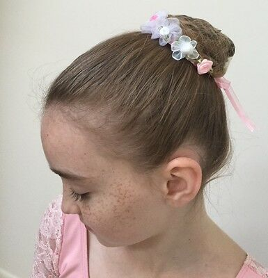 3 Hair Accessories, Bun Wreaths, BunFun Flowers, Ballet BunAccessory   Set of 3