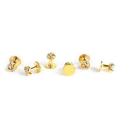 Knot Gold & Silver Tone Studs Set for Tuxedo (ST4080)