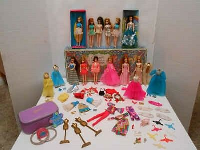Vintage Topper Dawn Doll Lot Case Clothing Shoes Accessories *rare* Make Up Bag
