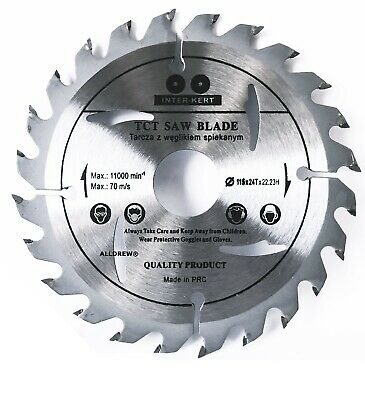 115mm Saw Blade for WOOD and PLASTIC Angle Grinder 24 TCT Teeth