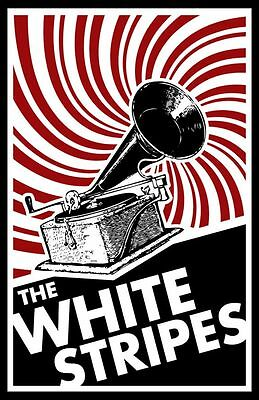 The White Stripes ROCK BAND METAL TIN SIGN POSTER WALL PLAQUE