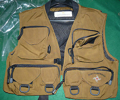 John partridge finest quality fly fishermans wading vest multi pocket trout salm