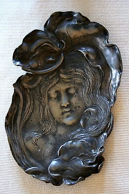 Very Good Art Nouveau Pewter Card Tray Circa 1900 -1905