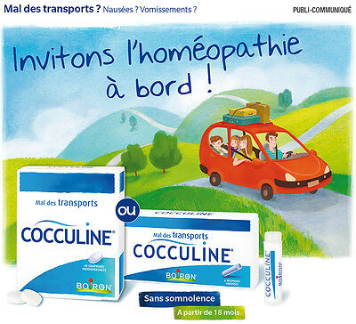 Cocculine Boiron 30 tabs Homeopathy Remedy for Travel Air Sea Sickness Nausea
