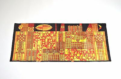 mid century modern WALL TAPESTRY / abstract modernist 50s 60s European wall art