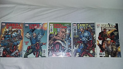 Cable and Deadpool lot  (2004) run set  #1 #2 #3 #4 #5 all VF except 5