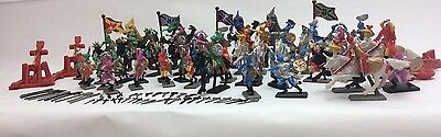 New 120 Pcs Knight Kids Fantasy Toys Dragon Figurines Soldier Set Medieval Times