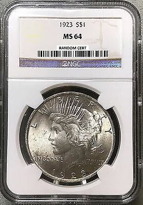 1923 Peace Dollar - NGC MS64 - Brilliant Uncirculated - Blast White