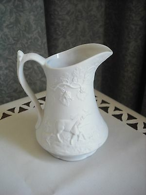 Portmerion- Parian Ware - Traditional Embossed  Pattern Jug