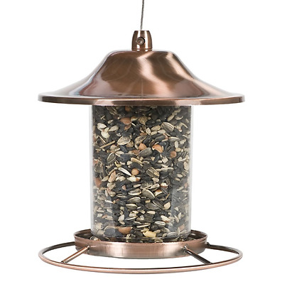 Copper Perky Bird Feeder Pet Panorama 312c, Seed capacity 2LB with Lock system