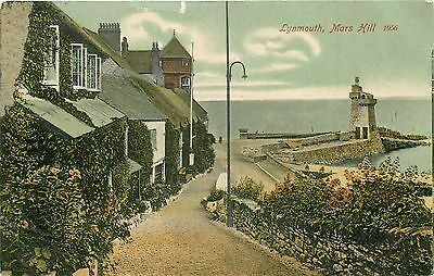 b1706 Mars Hill & Lighthouse, Lynmouth, Devon postcard unposted