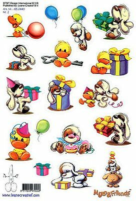 Mylo and Friends Stickers 2 - Pack of 2 A5 sheets