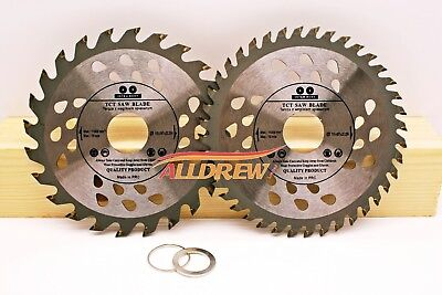 ( Set of 2 ) 115mm x 24 & 40 TCT Saw Blade for WOOD and PLASTIC Angle Grinder