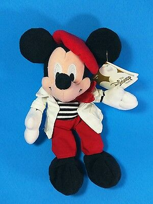 The Disney Store - Mini Bean Bag Plush - Glove Trotting French Mickey Mouse