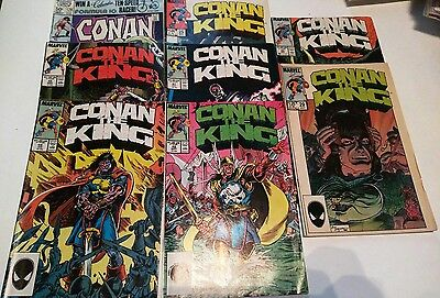 Comic Book Lot - Conan the King - 8 Books - #25,29,41-45 & Conan #128