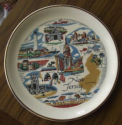 """Vintage New Jersey 7"""" Souvenir Collector State  Landmark Plate Holland Tunnel"""