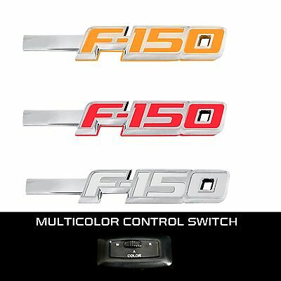 RECON 264282CH Ford LED F-150 2009-2014 Chrome White-Red-Amber Emblems