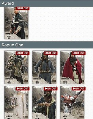 TOPPS Digital Star Wars Card Trader: Rogue One: Citizens of Jedha! Full Set of 6