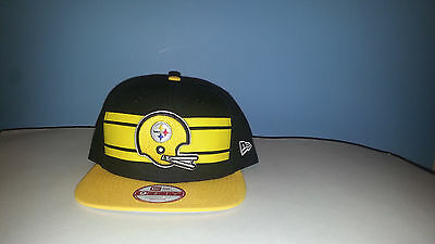 05ac8ddbf PITTSBURGH STEELERS NEW era 9fifty snapback hat black yellow NWT ...