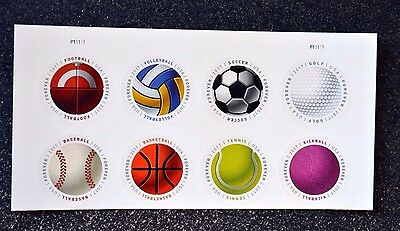 2017USA Forever - Have a Ball - Top Plate Block of 8 Mint