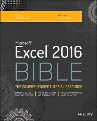 Microsoft Excel 2016 Bible, Paperback by Walkenbach, John, ISBN 1119067510, I...