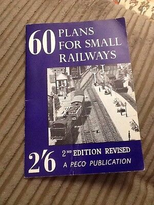 60 Plans For Small Model Railway Book 1967 Layouts Vintage Hornby Etc